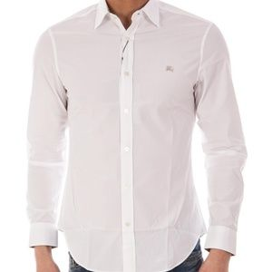 BURBERRY BRIT MEN`S  WHITE SHIRT %100 COTTON XXL